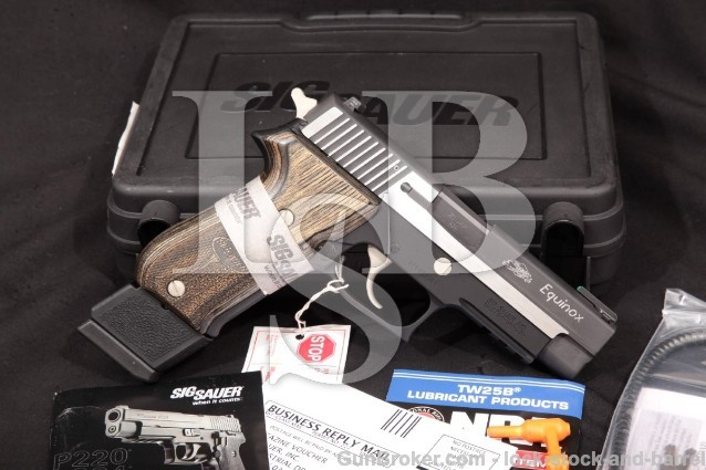 "SIG Sauer Model P220 Equinox 220R-45-EQ .45 ACP Black & Stainless 4 1/4"" Semi-Auto Pistol & Box"