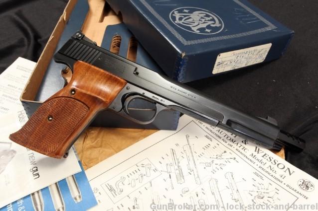 S&W Model 41-1 .22 Short Match Target Pistol & Box Smith & Wesson Semi Auto Pistol - BATF C&R OK