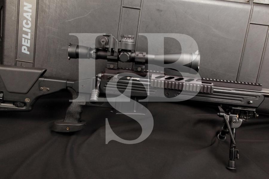 Savage Law Enforcement Model L.E. 110 BA 110BA .338 Lapua, Target Barrel, Barrett B.O.R.S. Computer Leupold Mk 4 LR/T, Magpul PRS2 & Pelican Case