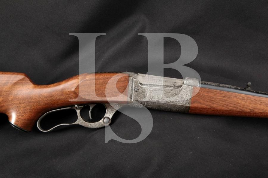 "Savage Model 99R Solid Frame, Blued & Engraved 24"" Custom Lever Action Rifle, MFD 1952 C&R"