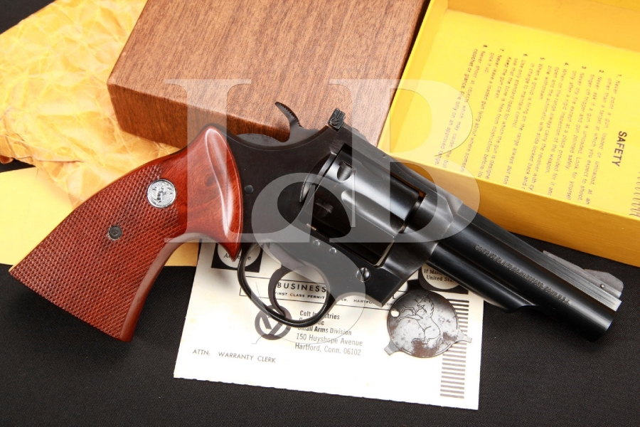 Scarce Colt Border Patrol, 2nd Issue 4 INCH Blue Double Action Revolver & Box, MFD 1971