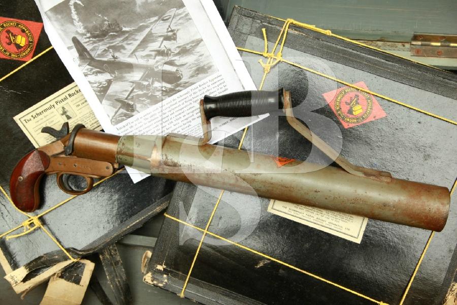 Schermuly Pistol Rocket Apparatus (SPRA) Limited, England in Original Crate & Line MFD 1920's - WWII