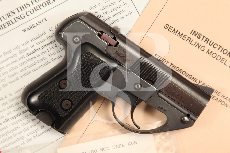 Semmerling Corp. LM-4 LM4 Lichtman Manually Operated .45 ACP Repeating Pistol