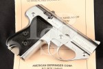 "Semmerling Corporation Semmerling Lichtman Model LM-4, Rare Chrome 3 5/8"" Double Action Only DAO Manually Operated Pistol"