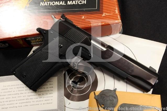 Series 70 Colt Model 1911 Gold Cup National Match MK IV NM .45 ACP Semi-Automatic Pistol & Box