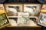 Set of 6 Serial-Number Matching WWI and WWII Commemorative 1911 & 1911A1 Pistols, Cases, & Book, MFD 1967-1970 C&R