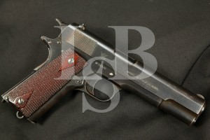 "Sharp & Rare WWI Springfield Armory Model 1911, Blue 5"" Semi-Automatic Pistol, MFD 1915 C&R .45 A.C.P. ACP"