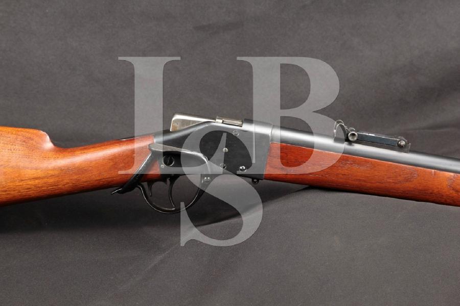 "Sharps Borchardt Model 1878 Military 32 3/16"" Single Shot Rifle & Martini Rear Sight, Antique"