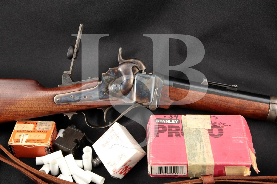 """Shiloh Products Inc. Farmingdale Sharps New Model 1863 Wolfgang Droge Marked 30"""" Rifle, MFD 1976-83 Mold, Paper Ctg Access. Antique"""