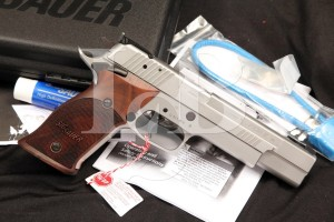 "Sig Sauer P220SX6, P-220S X6 .45 ACP 6"" Single Action Semi Auto Pistol & Case"