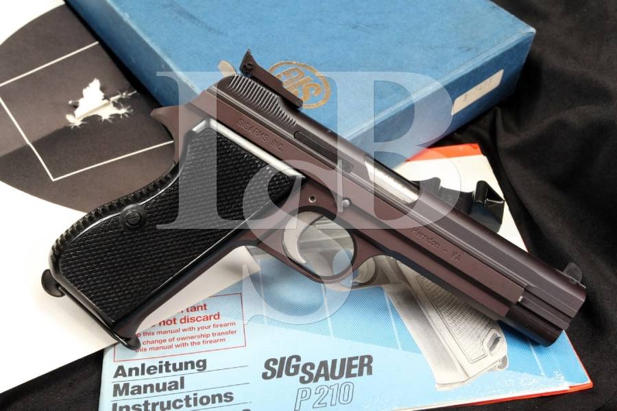 Sig Sauer Sigarms P210-6 9mm Semi-Automatic Pistol Swiss Manufacture & Box