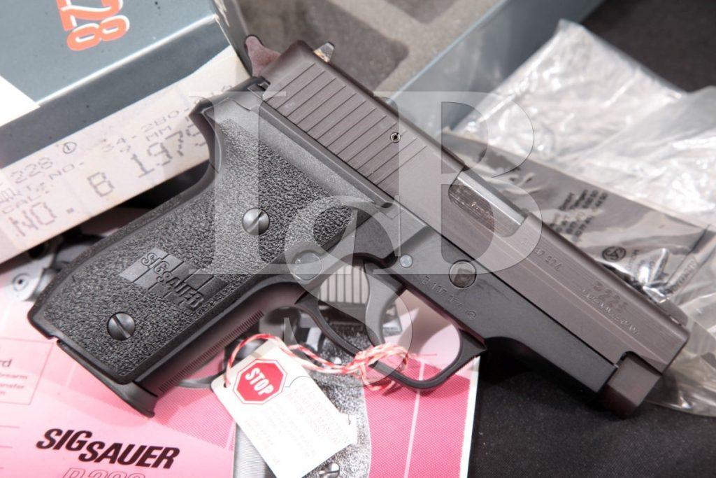 "Sig Sauer West German Model P228, Blue & Black 3 3/4"" Semi Automatic Pistol & Box, MFD 1993 9mm Luger"