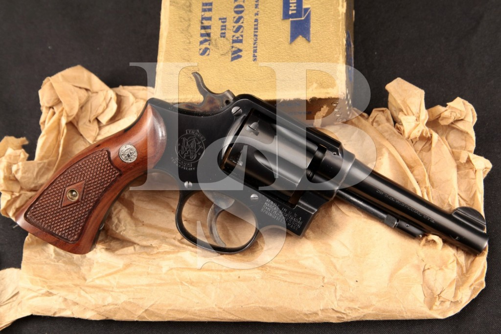 Smith & Wesson S&W .38 Military & Police M&P Pre-Model 10, Near Mint 2nd Year Blue 4 6-Shot Double Action Revolver & Box, MFD c1950 C&R