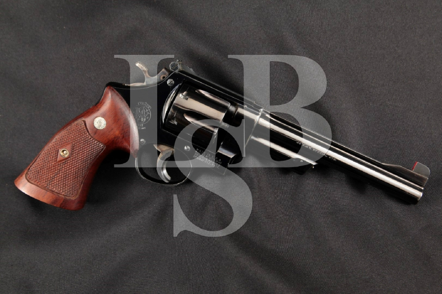 "Smith & Wesson S&W .44 Hand Ejector 4th Model Target Pre-Model 24, Blued 6 ½"" SA/DA Double Action Revolver, MFD 1955-56 C&R"