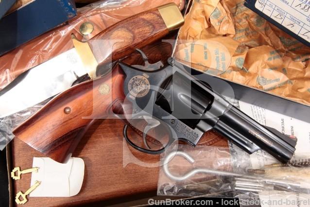 """Smith & Wesson S&W 19-3 Texas Ranger .357 Magnum Blue 4"""" SA/DA Revolver, Knife & Case 1973 ATF C&R"""