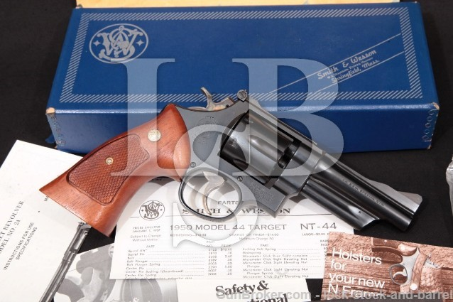 "Smith & Wesson S&W 24-3 1950 Reintroduction 100782 Blue 4"" SA/DA Revolver & Box, MFD 1984 .44 Special"
