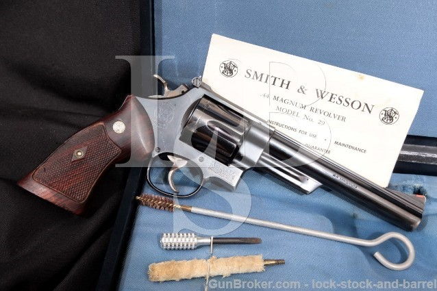 "Smith & Wesson S&W 29 .44 Magnum 4-Screw 6.5"" Double Action Revolver & Case, MFD 1957-1958 C&R"