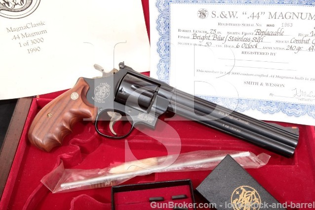 Smith & Wesson S&W 29-5 44 Magna Classic 1 Of 3000 Double Action Revolver & Presentation Case, 1990