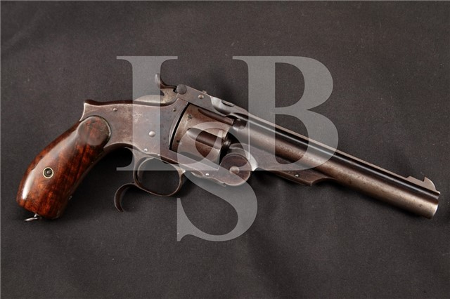 "Smith & Wesson S&W 3rd Model Number 3 .44 Russian 6 ½"" Blue SA 6-Shot Revolver MFD Ca. 1874, ANTIQUE"