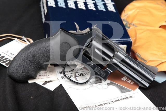 Smith & Wesson S&W 586-4 Combat Magnum, Blue 3 .357 Mag Round Butt SA DA Revolver & Box 1993-1999