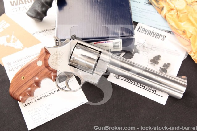 """Smith & Wesson S&W 629-4 Classic DX Deluxe .44 Mag Stainless 6.5"""" Revolver, Sights, Box, Grips & MORE"""
