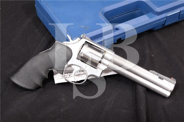 Smith & Wesson S&W 686-1 .357 Magnum Stainless 6 Silhouette Revolver Front Sight & Case, 1986-1987