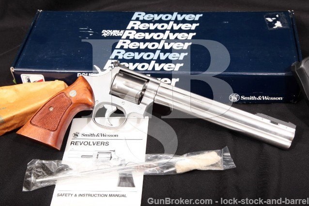 "Smith & Wesson S&W 686-3 Adjustable Front Sight Stainless 8 3/8"" Double Action Revolver & Box .357"