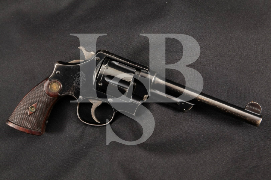 "Smith & Wesson S&W Model .44 Hand Ejector 1st Model New Century Triple Lock, Blue 6 ½"" SA/DA Double Action Revolver, MFD 1912 C&R"