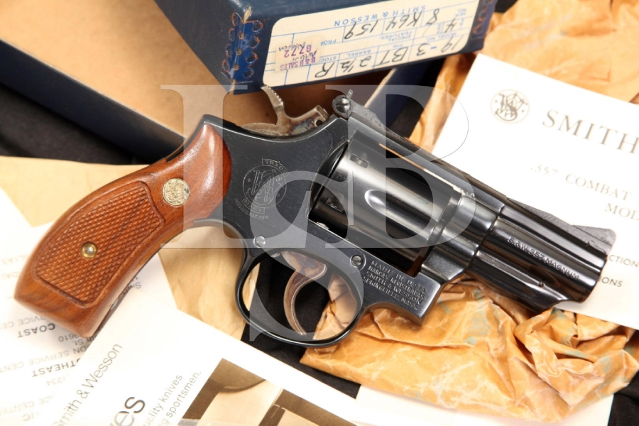 Smith & Wesson S&W Model 19-3 .357 Combat Magnum Double Action Revolver & Box