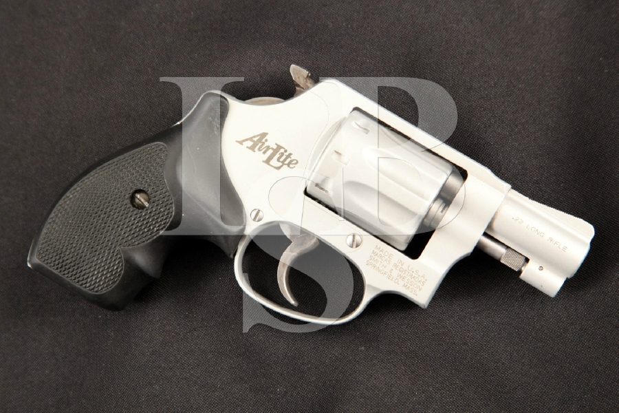 "Smith & Wesson S&W Model 317 .22 AirLite J-Frame Snub Nose, Satin 2"" 8-Shot, DA/SA Double Action Revolver, MFD 1997"