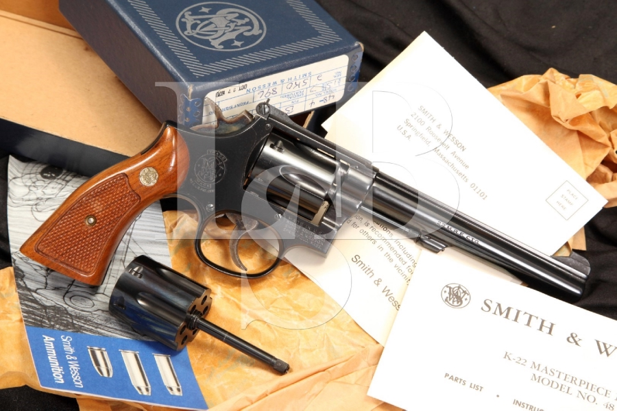 Smith & Wesson S&W Model 48-4 K-22 Masterpiece Magnum 22 LR & WMR Revolver & Box