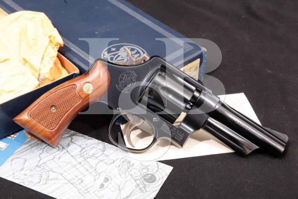"Smith & Wesson S&W Model 520 The 357 Magnum Military & Police, Blue 4"" SA/DA Double-Action Revolver & Box, MFD 1980 No Ca .357 Mag."