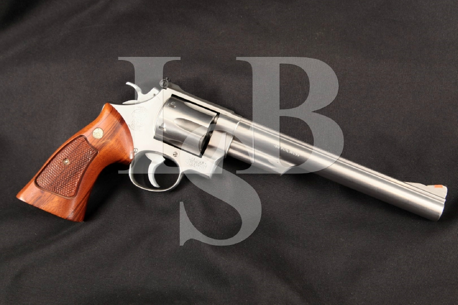 """Smith & Wesson S&W Model 629, 'The .44 Magnum', Scarce Brushed Stainless Steel 8 3/8"""" 6-Shot DA/SA Double Action Revolver, MFD 1981"""