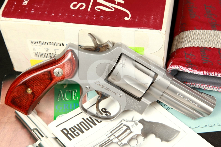 Smith & Wesson S&W Model 65-5 Lady Smith 3 Inch Stainless Steel Double Action Revolver & Box