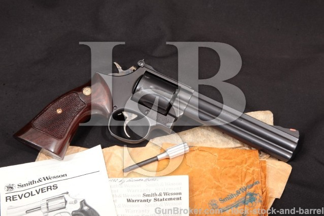 Smith & Wesson S&W Model 686-3, Midnight Stainless 104248 Black Stainless Double Action Revolver 1988