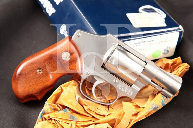"Smith & Wesson S&W Model 940 Stainless 2"" 9mm DAO Double Action Centennial Revolver & Box, 1991-98"