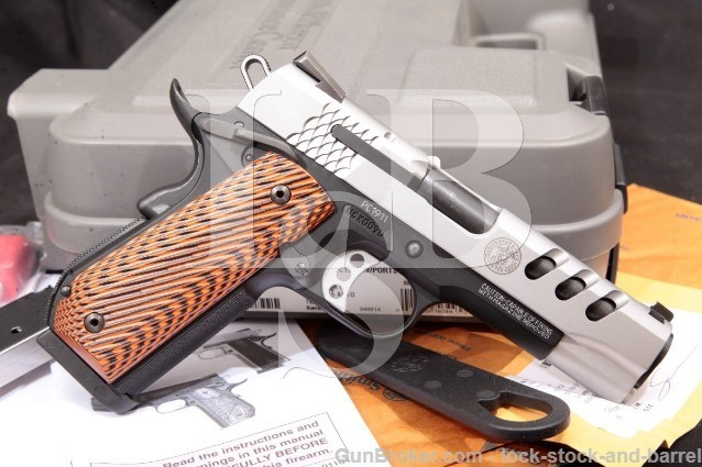 "Smith & Wesson S&W Performance Center PC1911 .45 170344 Stainless & Black 4.25"" Pistol & Case 2014"