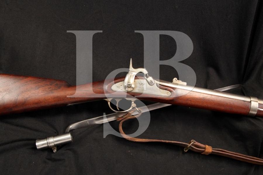 Springfield Armory Model 1861 Percussion Rifle - Musket, MFD Trenton NJ Contract - Antique