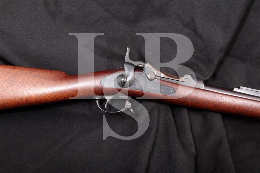 Springfield Model 1884 U.S. Trapdoor, Blue & Case Color 32 5/8 Single Shot Rifle & Rod, MFD 1888 Antique .45-70 Govt.