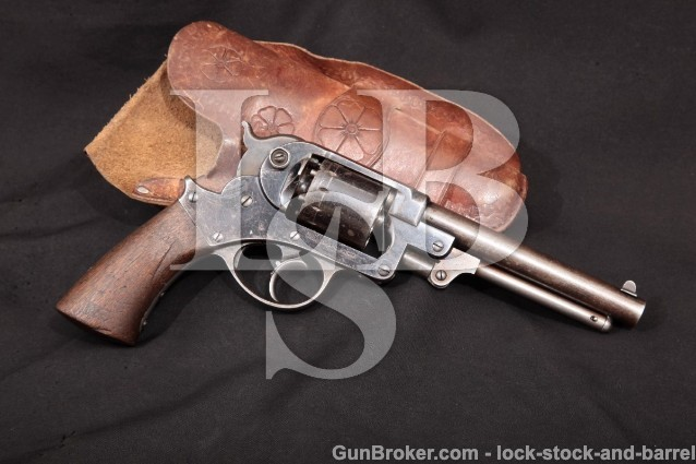 Starr Arms Co. Double Action D.A. 1858 Army 44 Cal Percussion Double Action Revolver, 1860s Antique