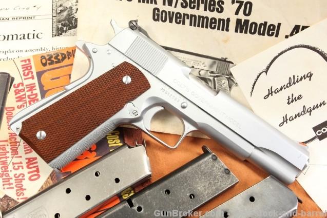 Armand Swenson Custom Colt Series 70 1911 .45 ACP Mint Semi-Auto Pistol w/ Extra Magazines & Case