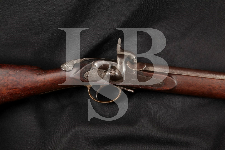 """Thomas Wilson 1859 Late Pattern, As used by Confederate Forces, Blue & Brown 33"""" Single Shot Breech Loaded Rifle, MFD 1865 Antique"""