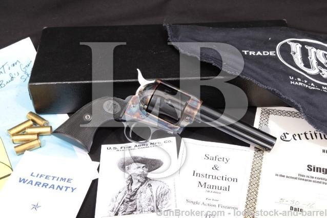 "USFA Mfg. Co. Single Action Army 4 3/4"" .45 Colt 100% U.S. Made Revolver, MFD Ca. 2010"