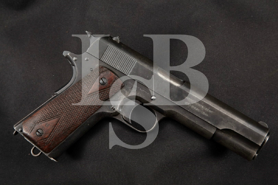 "WWI Colt Model 1911 M1911 British & Canadian Marked, Blue 5"" SA Semi-Automatic Pistol MFD 1917 C&R"