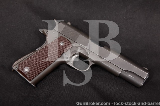 "WWII Colt M1911A1 1911-A1 .45 ACP Parkerized 5"" SA Single Action Semi-Automatic Pistol 1943 C&R"
