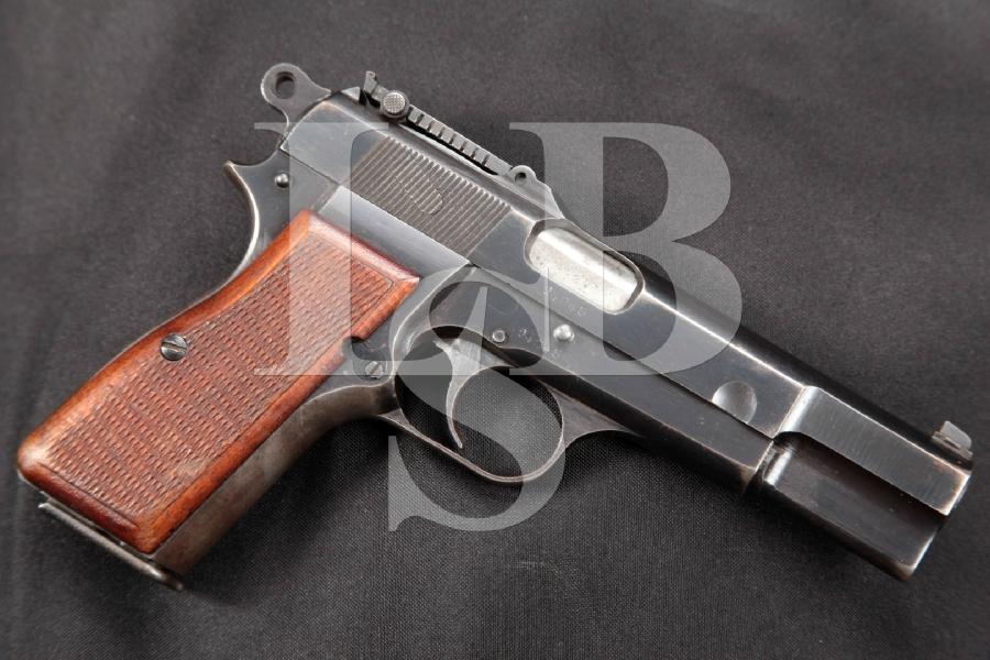 WWII FN Browning Hi Power, High Power, Nazi Type II, Blue 4 5/8 Semi-Automatic Pistol, MFD 1942 C&R