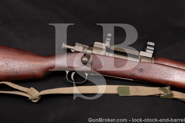 WWII Remington 03-A4 1903A4 .30-06 1903-A3 Sniper Bolt Action Rifle & Redfield Jr. Rings, 1943 C&R