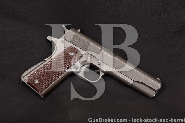 "WWII Remington Rand Model 1911-A1 1911A1, 1944 C&R Parkerized 5"" SA Semi-Auto US Army Pistol, .45 ACP"