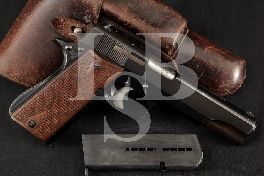 "WWII Spanish Star Model B, RARE German Navy Shipped, Nazi Marked Blue 5"" Semi-Auto Pistol, 2 Mags & Holster, MFD 1942 C&R"
