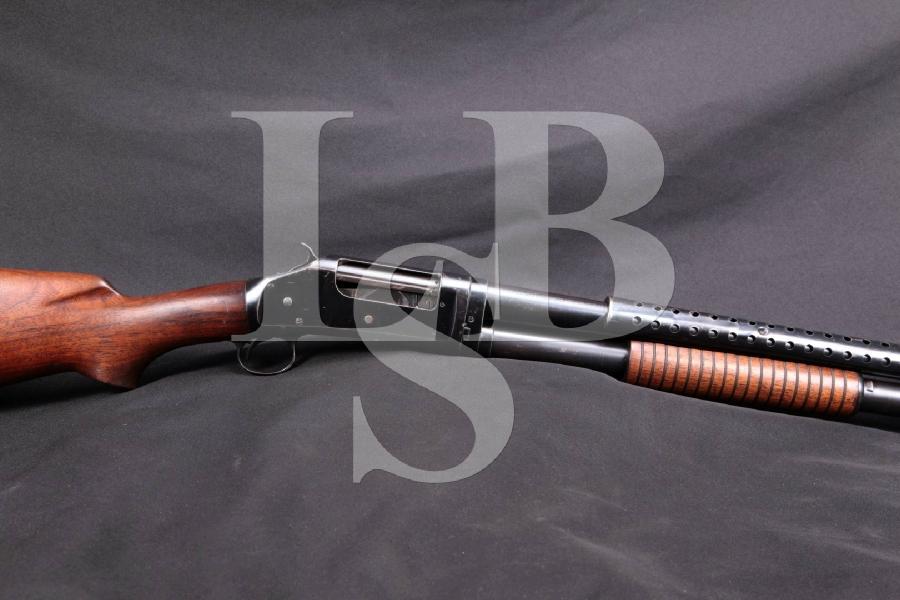 "WWII Winchester Model 1897 97 M97 Trench Gun, Blue 20"" Pump Action Takedown Combat Shotgun, MFD 1942 C&R"